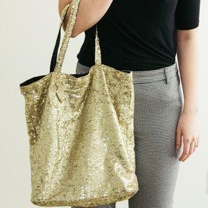 Victoria's Secret Gold Sequin Bag